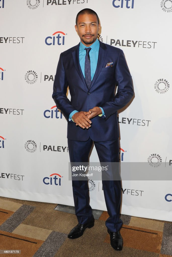 Actor Charles Michael Davis arrives at the 2014 PaleyFest 'The Vampire Diaries' 'The Originals' on March 22 2014 in Hollywood California