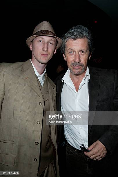Actor Charles Shaughnessy and Eric Zuley attend the surprise 21st birthday bash for Kristo Andrews at the Varsity Sports Bar on August 24 2011 in Los...