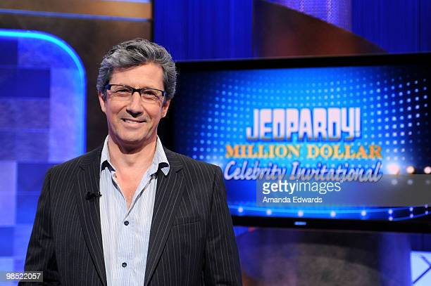 Actor Charles Shaughnessy poses on the set of the 'Jeopardy' Million Dollar Celebrity Invitational Tournament Show Taping on April 17 2010 in Culver...