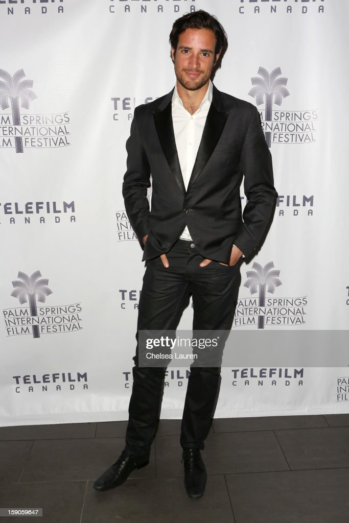 Actor Charlie Carrick arrives at the Canadian film party at the 24th annual Palm Springs International Film Festival on January 6, 2013 in Palm Springs, California.