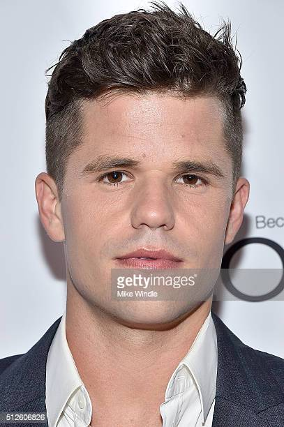 Actor Charlie Carver attends Vanity Fair L'Oreal Paris Hailee Steinfeld host DJ Night at Palihouse Holloway on February 26 2016 in West Hollywood...