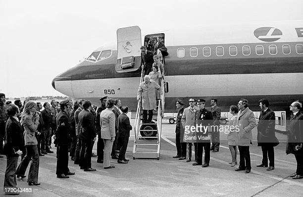 Actor Charlie Chaplin's return to America on April 41972 in New York New York