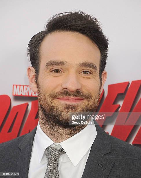 Actor Charlie Cox arrives at the premiere Of Netflix's 'Marvel's Daredevil' at Regal Cinemas LA Live on April 2 2015 in Los Angeles California