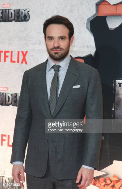 Actor Charlie Cox attends 'Marvel's The Defenders' New York premiere at Tribeca Performing Arts Center on July 31 2017 in New York City