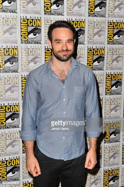 Actor Charlie Cox attends 'Marvel's The Defenders' press line at Comic Con on July 21 2017 in San Diego California