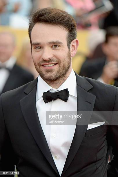 Actor Charlie Cox attends the 21st Annual Screen Actors Guild Awards at The Shrine Auditorium on January 25 2015 in Los Angeles California