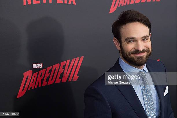 Actor Charlie Cox attends the 'Daredevil' Season 2 premiere at AMC Loews Lincoln Square 13 theater on March 10 2016 in New York City