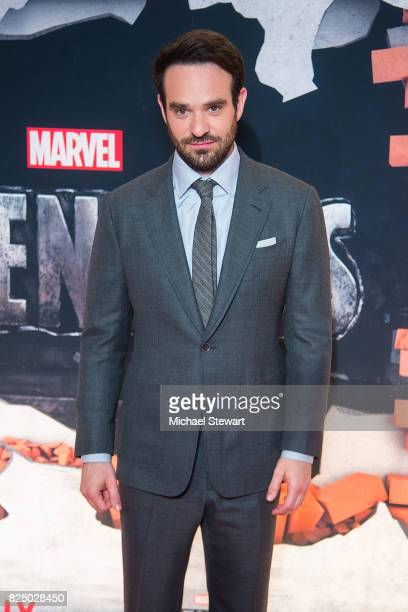 Actor Charlie Cox attends the 'Marvel's The Defenders' New York premiere at Tribeca Performing Arts Center on July 31 2017 in New York City