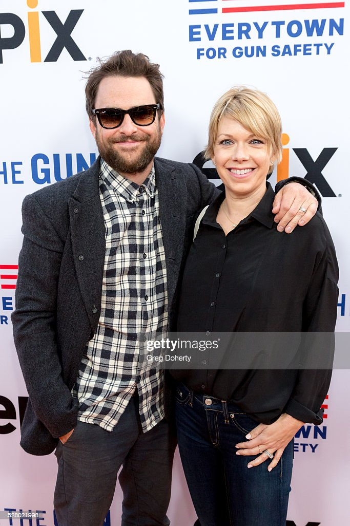 Actor Charlie Day and Actress Mary Elizabeth Ellis arrive at the Premiere Of EPIX's 'Under The Gun' at the Samuel Goldwyn Theater on May 3 2016 in...