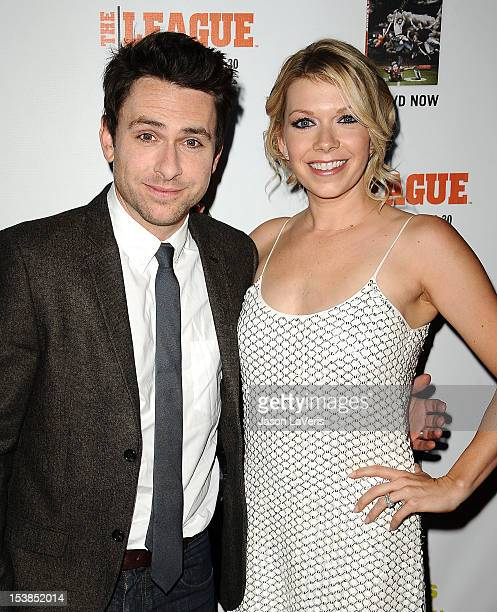 Actor Charlie Day and actress Mary Elizabeth Ellis attend the FX season premiere screenings for 'It's Always Sunny In Philadelphia' and 'The League'...