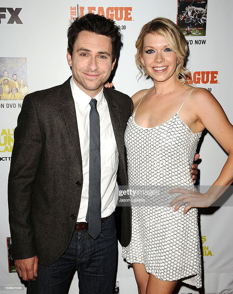 Actor Charlie Day and actress Mary Elizabeth Ellis attend the FX season premiere screenings for 'It's Always Sunny In Philadelphia' and 'The League' at ArcLight Cinemas Cinerama Dome on October 9, 2012 in Hollywood, California.