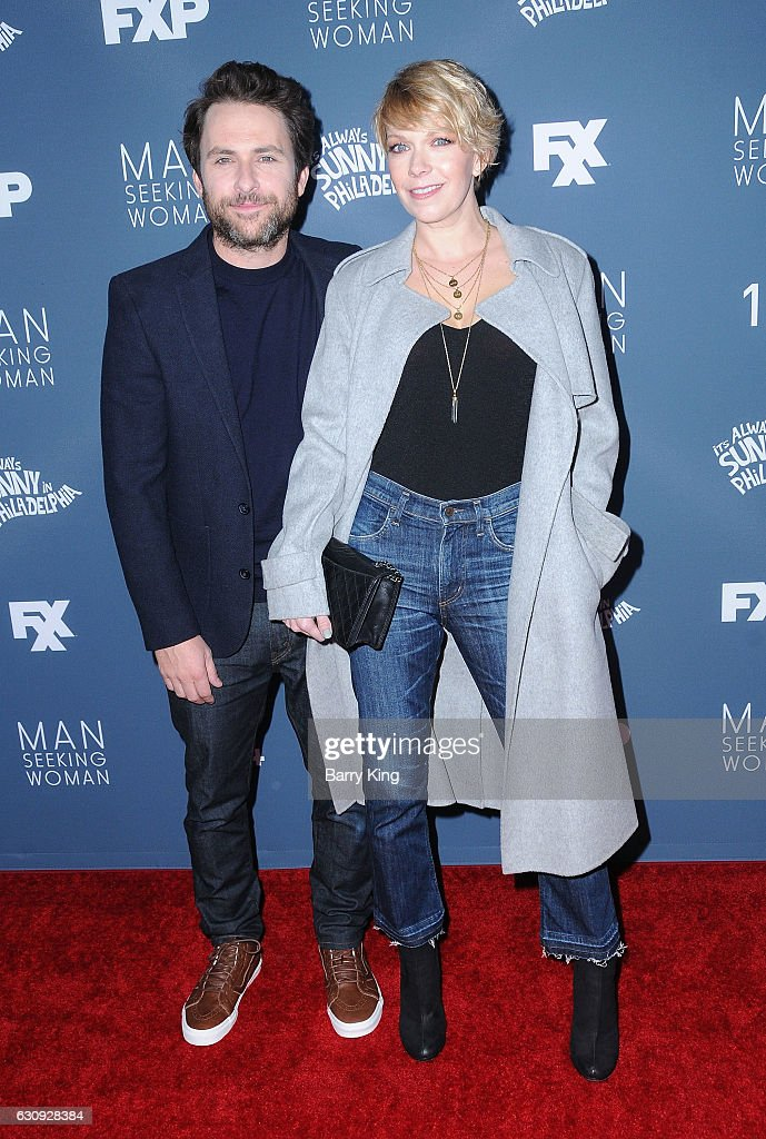 Actor Charlie Day and actress Mary Elizabeth Ellis attend the premiere of FXX's 'It's Always Sunny In Philadelphia' Season 12 and 'Man Seeking Woman' Season 3 at Fox Bruin Theatre on January 3, 2017 in Los Angeles, California.