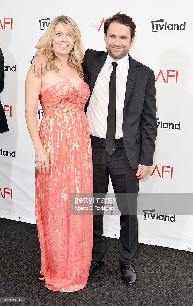Actor <a gi-track='captionPersonalityLinkClicked' href=/galleries/search?phrase=Charlie+Day&family=editorial&specificpeople=537731 ng-click='$event.stopPropagation()'>Charlie Day</a> (R) and Mary Elizabeth Ellis arrives at the 40th AFI Life Achievement Award honoring Shirley MacLaine held at Sony Pictures Studios on June 7, 2012 in Culver City, California. The AFI Life Achievement Award tribute to Shirley MacLaine will premiere on TV Land on Saturday, June 24 at 9PM ET/PST.