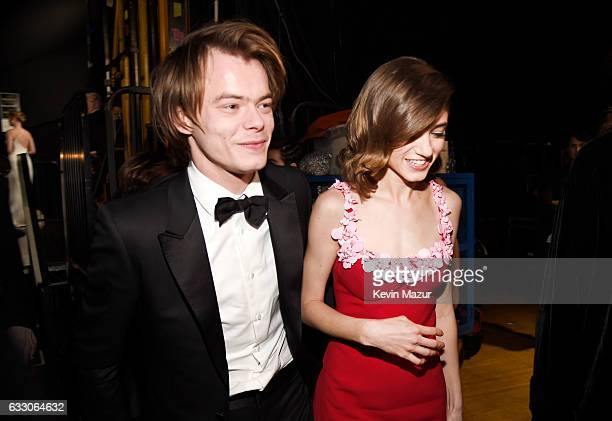 Actor Charlie Heaton and Natalie Dyer attend The 23rd Annual Screen Actors Guild Awards at The Shrine Auditorium on January 29 2017 in Los Angeles...