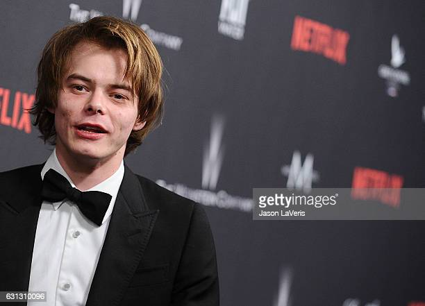 Actor Charlie Heaton attends the 2017 Weinstein Company and Netflix Golden Globes after party on January 8 2017 in Los Angeles California