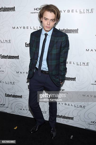 Actor Charlie Heaton attends the Entertainment Weekly Celebration of SAG Award Nominees sponsored by Maybelline New York at Chateau Marmont on...