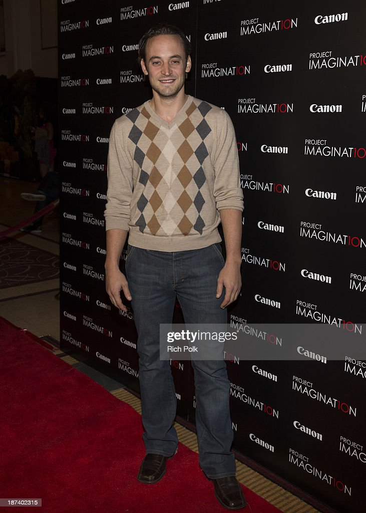 Actor Charlie Hofheimer arrives at Canon's Los Angeles Screening Of The Project Imaginat10n Film Festival at Pacific Theaters at the Grove on November 7, 2013 in Los Angeles, California.