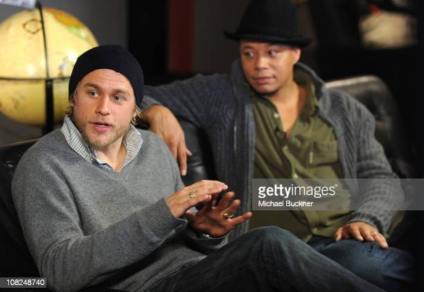 Actor Charlie Hunnam and actor Terrence Howard attend 'The Ledge' Press Junket at Bing Bar on January 22 2011 in Park City Utah