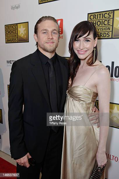 Actor Charlie Hunnam and guest attends the 2nd annual Critic's Choice Television Awards sponsored by Metromint water at The Beverly Hilton Hotel on...
