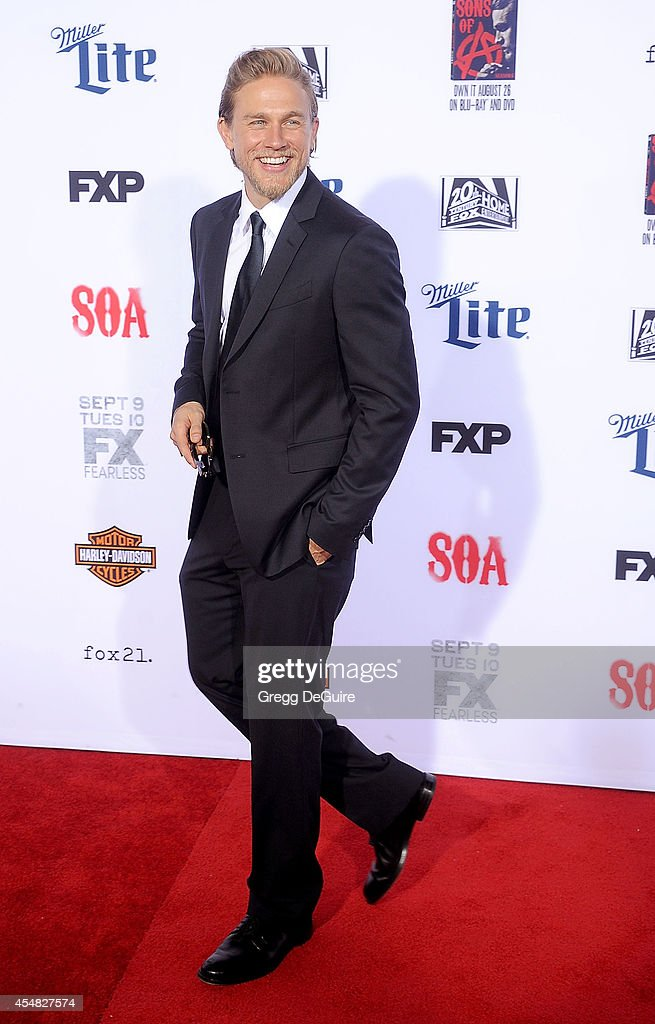 Actor Charlie Hunnam arrives at FX's 'Sons Of Anarchy' premiere at TCL Chinese Theatre on September 6, 2014 in Hollywood, California.