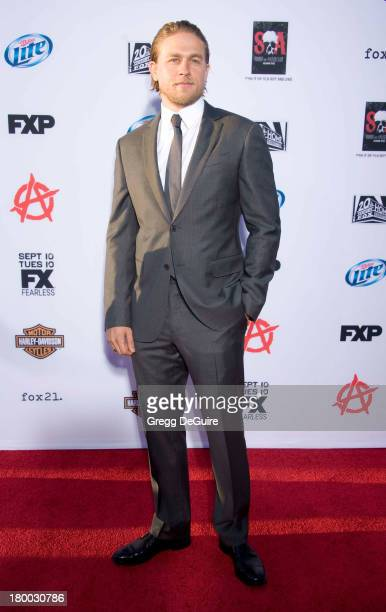 Actor Charlie Hunnam arrives at FX's 'Sons Of Anarchy' Season 6 premiere screening at Dolby Theatre on September 7 2013 in Hollywood California