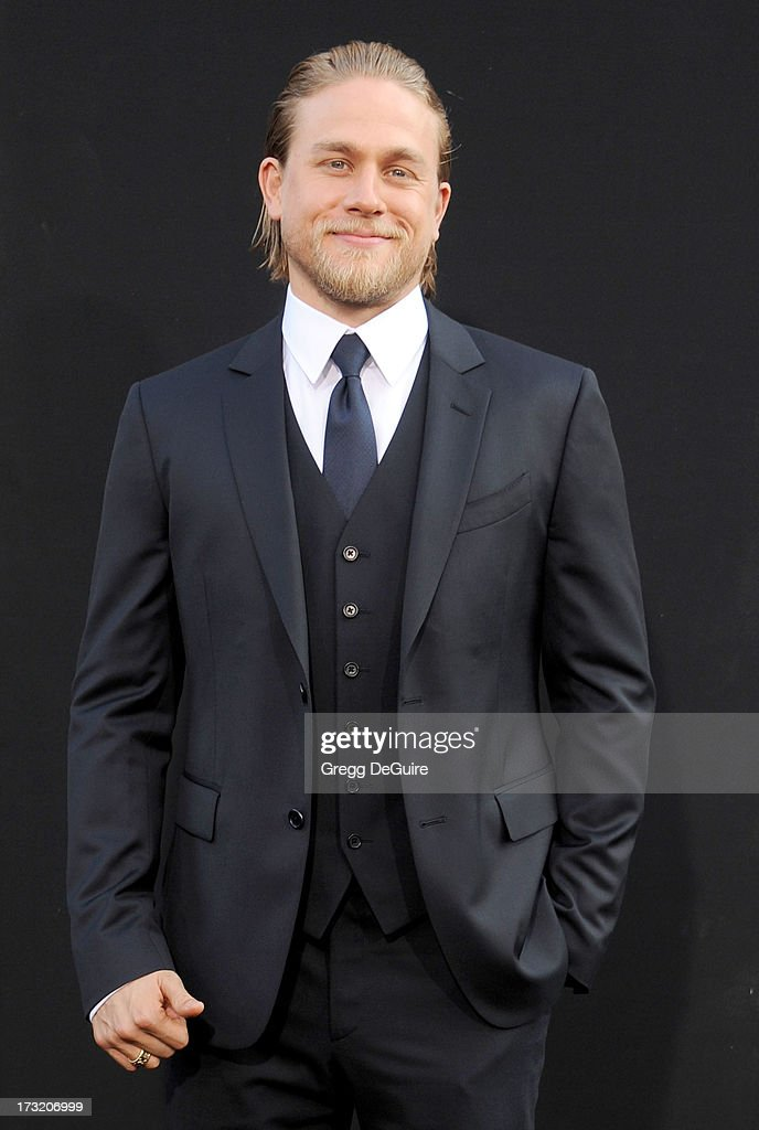 Actor <a gi-track='captionPersonalityLinkClicked' href=/galleries/search?phrase=Charlie+Hunnam&family=editorial&specificpeople=223913 ng-click='$event.stopPropagation()'>Charlie Hunnam</a> arrives at the Los Angeles premiere of 'Pacific Rim' at Dolby Theatre on July 9, 2013 in Hollywood, California.
