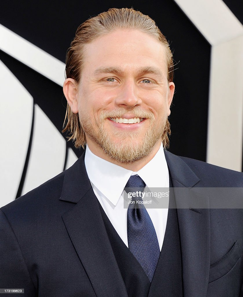 Actor <a gi-track='captionPersonalityLinkClicked' href=/galleries/search?phrase=Charlie+Hunnam&family=editorial&specificpeople=223913 ng-click='$event.stopPropagation()'>Charlie Hunnam</a> arrives at the Los Angeles Premiere 'Pacific Rim' at Dolby Theatre on July 9, 2013 in Hollywood, California.