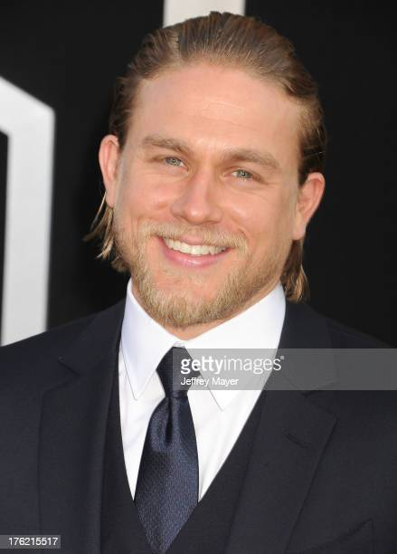 Actor Charlie Hunnam arrives at the 'Pacific Rim' Los Angeles Premiere at Dolby Theatre on July 9 2013 in Hollywood California