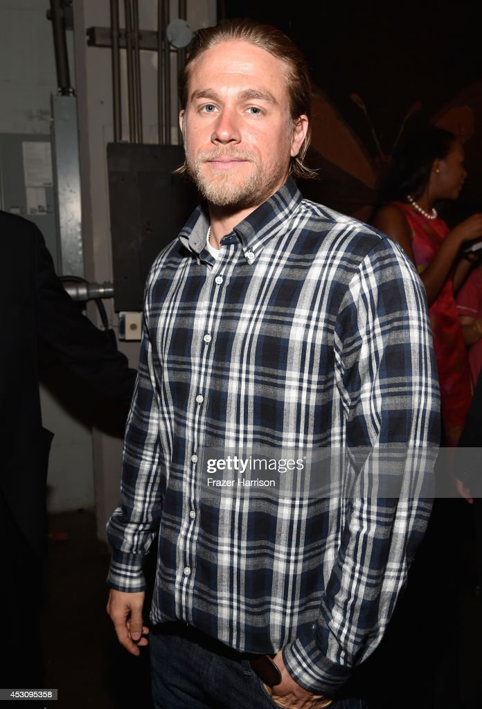 Actor <a gi-track='captionPersonalityLinkClicked' href=/galleries/search?phrase=Charlie+Hunnam&family=editorial&specificpeople=223913 ng-click='$event.stopPropagation()'>Charlie Hunnam</a> attends Cast of FX's 'Sons of Anarchy' Host 'Boot Bash' benefiting The Boot Campaign at The Bunker Lofts on August 2, 2014 in Los Angeles, California.