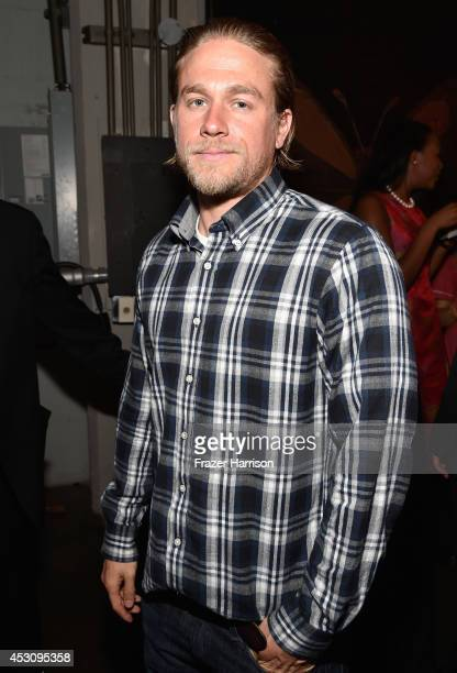 Actor Charlie Hunnam attends Cast of FX's 'Sons of Anarchy' Host 'Boot Bash' benefiting The Boot Campaign at The Bunker Lofts on August 2 2014 in Los...