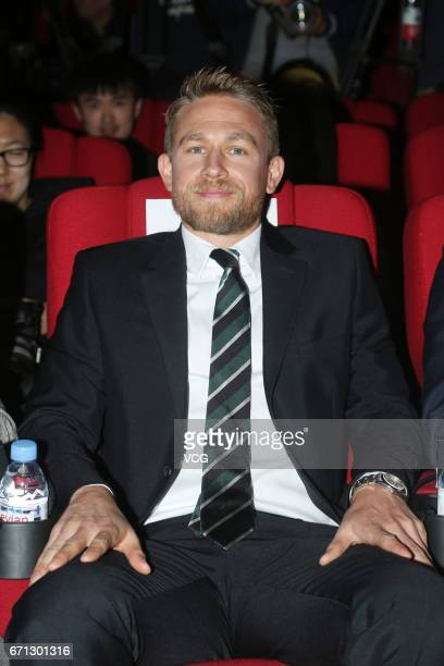 Actor Charlie Hunnam attends 'King Arthur Legend of the Sword' press conference during the 2017 Beijing International Film Festival on April 21 2017...