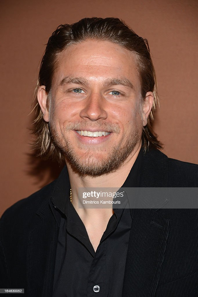 Actor <a gi-track='captionPersonalityLinkClicked' href=/galleries/search?phrase=Charlie+Hunnam&family=editorial&specificpeople=223913 ng-click='$event.stopPropagation()'>Charlie Hunnam</a> attends the 2013 FX Upfront Bowling Event at Luxe at Lucky Strike Lanes on March 28, 2013 in New York City.