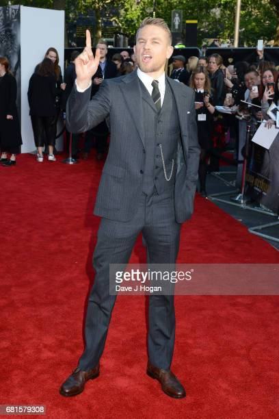 Actor Charlie Hunnam attends the European premiere of 'King Arthur Legend of the Sword' at Cineworld Empire on May 10 2017 in London United Kingdom