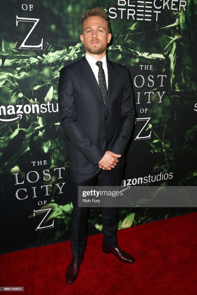 Actor Charlie Hunnam attends the premiere of Amazon Studios' 'The Lost City Of Z' at ArcLight Hollywood on April 5, 2017 in Hollywood, California.