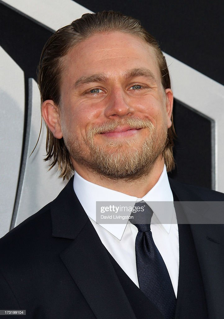 Actor <a gi-track='captionPersonalityLinkClicked' href=/galleries/search?phrase=Charlie+Hunnam&family=editorial&specificpeople=223913 ng-click='$event.stopPropagation()'>Charlie Hunnam</a> attends the premiere of Warner Bros. Pictures and Legendary Pictures' 'Pacific Rim' at the Dolby Theatre on July 9, 2013 in Hollywood, California.