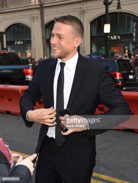 Actor Charlie Hunnam attends the premiere of Warner Bros Pictures' 'King Arthur Legend Of The Sword' at TCL Chinese Theatre on May 8 2017 in...