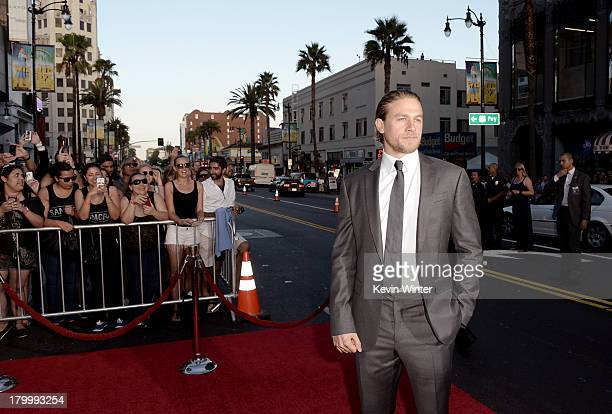 Actor Charlie Hunnam attends the season 6 premiere of FX's 'Sons Of Anarchy' at Dolby Theatre on September 7 2013 in Hollywood California