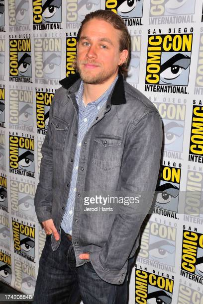 Actor Charlie Hunnam attends the 'Sons Of Anarchy' press line at ComicCon International 2013 at San Diego Convention Center on July 21 2013 in San...