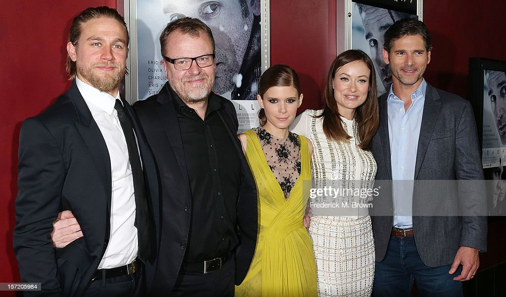 Actor Charlie Hunnam, director Stefan Ruzowitzky, actresses Kate Mara and Olivia Wilde and actor Eric Bana attend the Premiere of Magnolia Pictures' 'Deadfall' at the ArcLight Cinemas on November 29, 2012 in Hollywood, California.