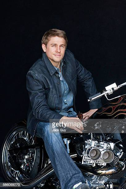 Actor Charlie Hunnam is photographed for Emmy Magazine on April 26 2012 in Los Angeles California