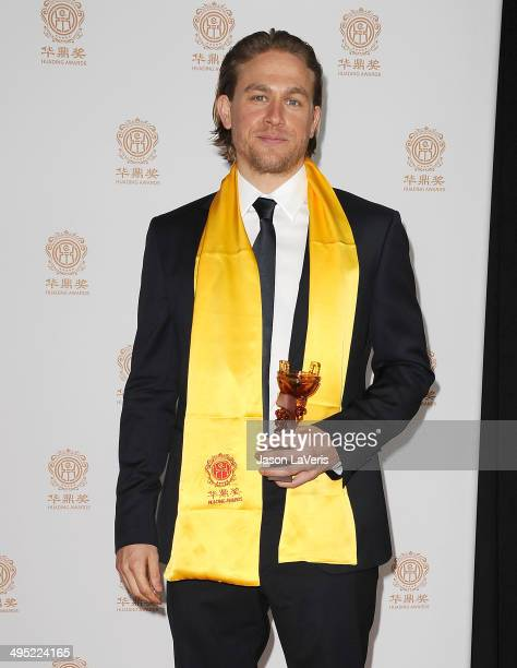 Actor Charlie Hunnam poses in the press room at the 2014 Huading Film Awards at The Montalban on June 1 2014 in Hollywood California