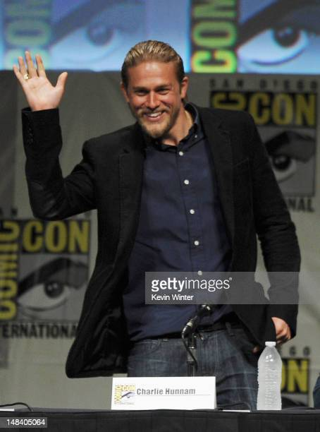 Actor Charlie Hunnam speaks at 'Sons of Anarchy' Pane during ComicCon International 2012 at San Diego Convention Center on July 15 2012 in San Diego...
