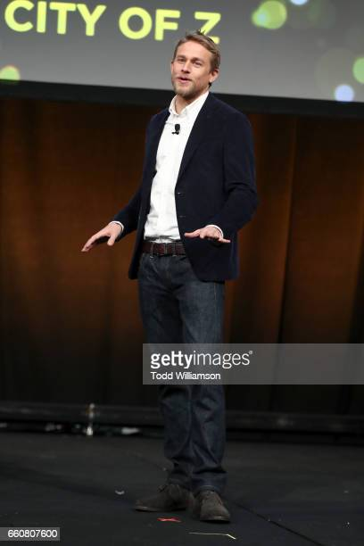 Actor Charlie Hunnam speaks onstage at Amazon Studios 2017 CinemaCon Presentation at Caesars Palace during CinemaCon the official convention of the...