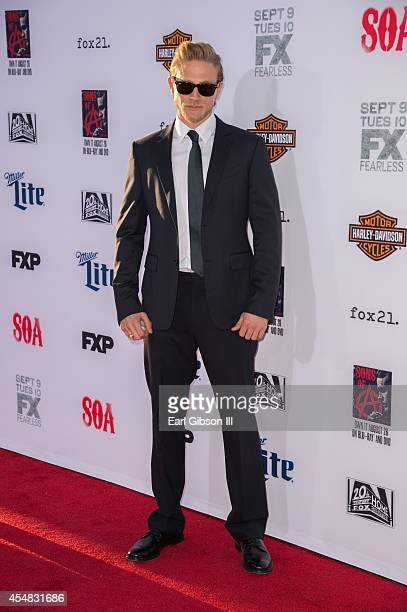 Actor Charlie Hunnam who plays Jackson 'Jax' Teller attends FX's 'Sons Of Anarchy' Premiere at TCL Chinese Theatre on September 6 2014 in Hollywood...