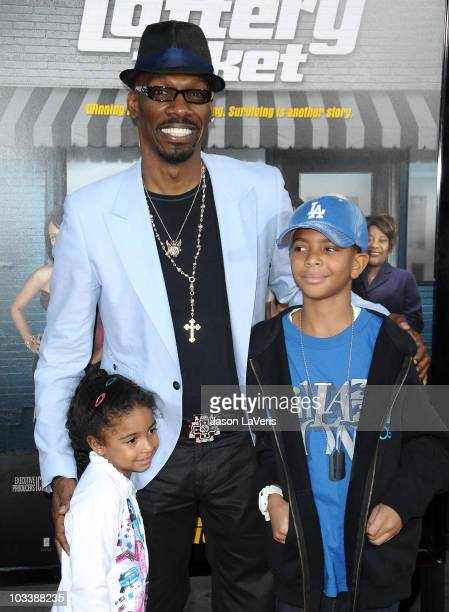 Actor Charlie Murphy and family attend the premiere of 'Lottery Ticket' at Grauman's Chinese Theatre on August 12 2010 in Hollywood California