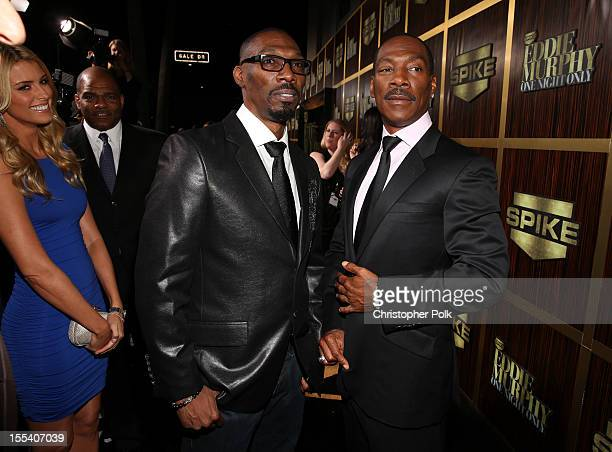 Actor Charlie Murphy and honoree Eddie Murphy arrive at Spike TV's 'Eddie Murphy One Night Only' at the Saban Theatre on November 3 2012 in Beverly...