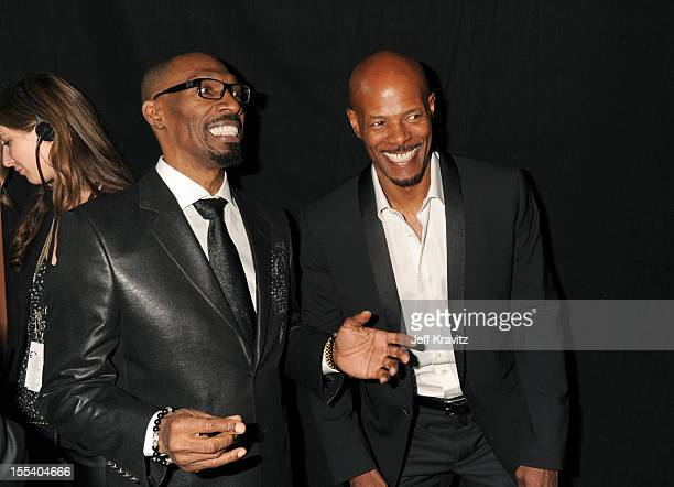 Actor Charlie Murphy and producer/director Keenen Ivory Wayans arrive at Spike TV's 'Eddie Murphy One Night Only' at the Saban Theatre on November 3...