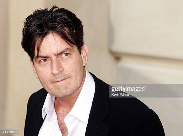 Actor Charlie Sheen arrives at Chrysalis' 5th Annual Butterfly Ball at the home of Fred and Carla Sands on June 10 2006 in Los Angeles California