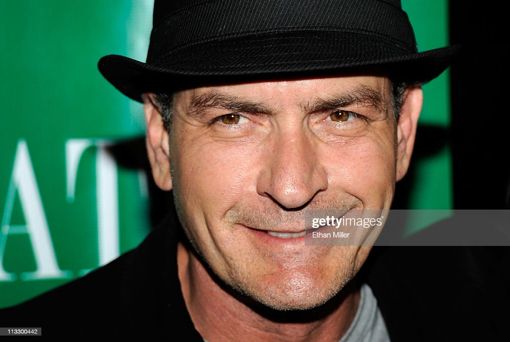Actor Charlie Sheen arrives at the Chateau Nightclub & Gardens at the Paris Las Vegas early May 1, 2011 in Las Vegas, Nevada.