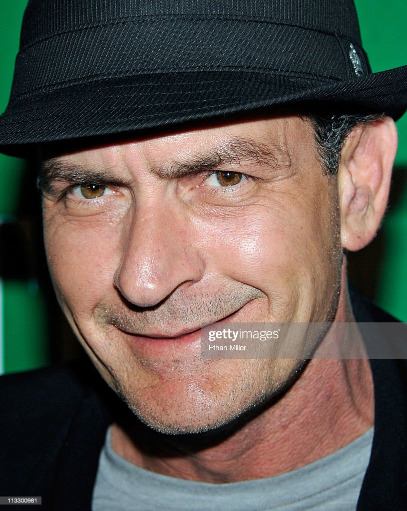 Actor <a gi-track='captionPersonalityLinkClicked' href=/galleries/search?phrase=Charlie+Sheen&family=editorial&specificpeople=206152 ng-click='$event.stopPropagation()'>Charlie Sheen</a> arrives at the Chateau Nightclub & Gardens at the Paris Las Vegas early May 1, 2011 in Las Vegas, Nevada.
